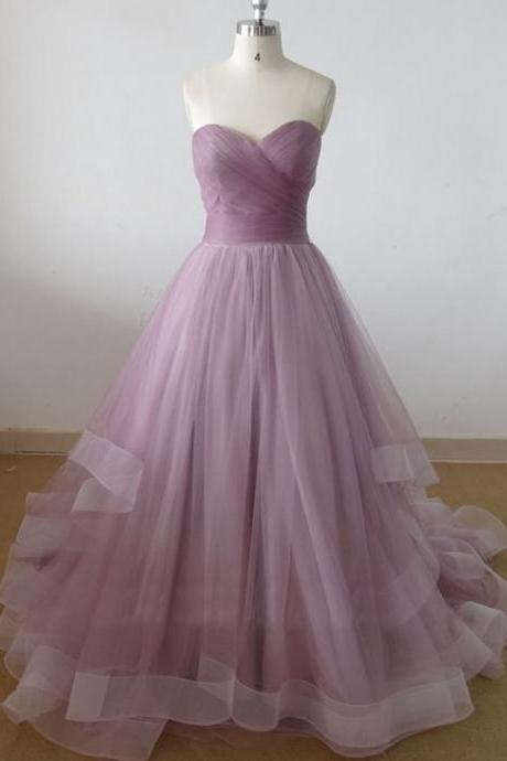 sweetheart tulle prom dress, long prom dress, cheap prom dresses, prom dresses 2016, elegant prom dresses, Bridal Gownsprom dresses,custom prom dresses