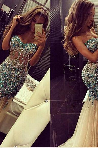 See through prom dresses, mermaid prom dresses, long prom dresses, prom dresses 2016, sexy prom dresses