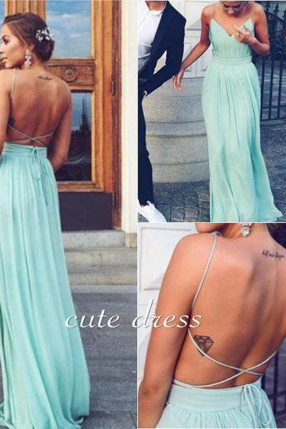 V Neck Prom Dress,Backless Prom Dress,Chiffon Prom Dress,Sexy Prom Dresses,Long Evening Dress,Prom Gown,Evening Gown