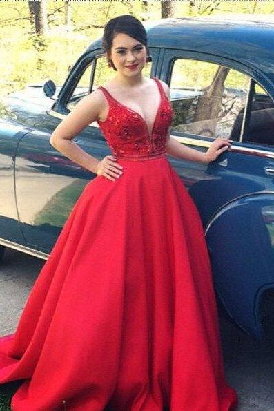 Charming Prom Dress,Red Prom Dress,Long Prom Dress,Sexy Prom Dresses