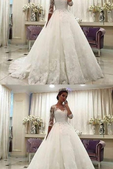 wedding dress ,2019 ball gown wedding dress,custom made size dress