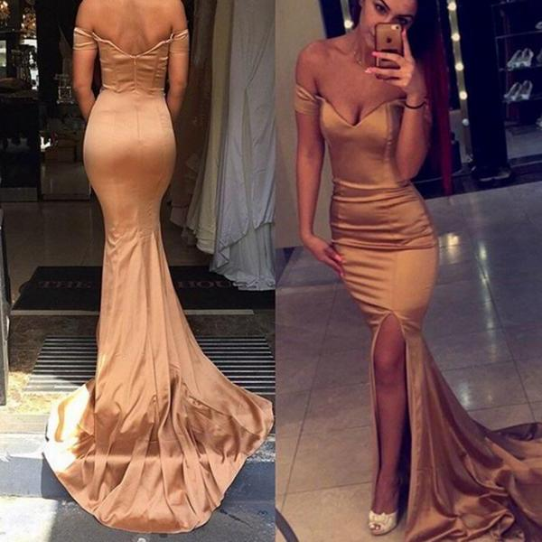 Prom Dresses,Mermaid Prom Dress,Satin Prom Dress,Off The Shoulder Prom Dresses,2016 Formal Gown,Corset Evening Gowns,Party Dress,Mermaid Prom Gown For Teens